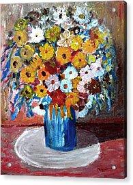 Vase Of Spring Acrylic Print by Mauro Beniamino Muggianu