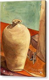 Vase Still Acrylic Print by Mukta Gupta