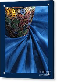 Vase With Swirled Cloth Acrylic Print