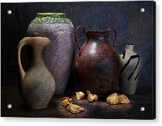Vases And Urns Still Life Acrylic Print by Tom Mc Nemar