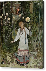 Vassilissa In The Forest Acrylic Print by Ivan Bilibin