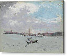 Vast Lagoon Outside Venice Circa 1901 Acrylic Print by Aged Pixel