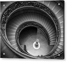 Vatican Stairs Acrylic Print by Adam Romanowicz