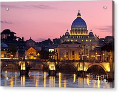 Vatican Twilight Acrylic Print by Brian Jannsen