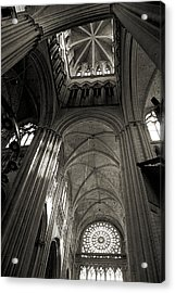 Vaults Of Rouen Cathedral Acrylic Print by RicardMN Photography