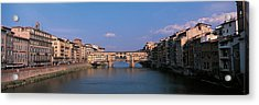 Vecchio Bridge Florence Italy Acrylic Print by Panoramic Images