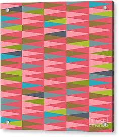 Vector Abstract Geometric Triangle Acrylic Print