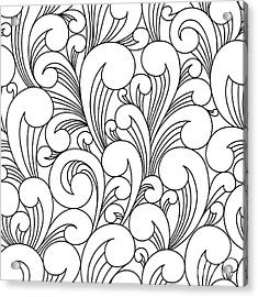 Vector Black And White Pattern With Acrylic Print