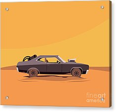 Vector Flat Illustration Of A Vehicle Acrylic Print by Supercaps