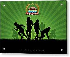 Vector Football Background Acrylic Print by Stock art