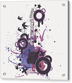Vector Illustration Of Electric Guitar Acrylic Print