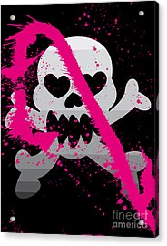 Vector Illustration Of Skull Acrylic Print
