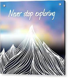 Vector Illustration With Hand Drawn Acrylic Print by Julymilks