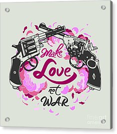 Vector Isolated Vintage Poster Make Acrylic Print