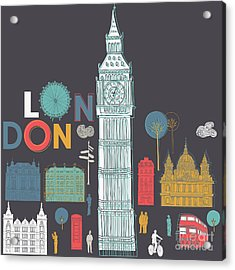 Vector London Symbols Acrylic Print