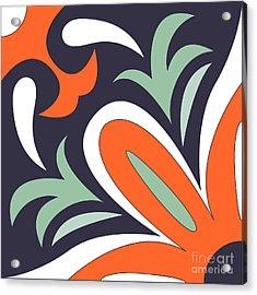 Vector Ornamental Tile Background Acrylic Print