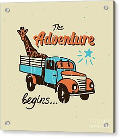 Vector Poster The Adventure Begins Acrylic Print