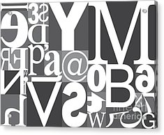 Vector Typography Blocks Acrylic Print by Rob Pitman