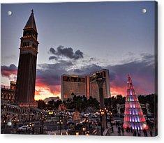 Vegas Christmas Sunset 001 Acrylic Print