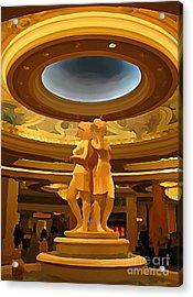 Vegas Hotel Interior Acrylic Print by John Malone