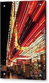 Vegas Neon Acrylic Print by John Rizzuto