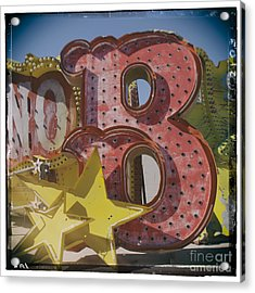 Vegas Red Letter B Acrylic Print