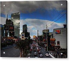 Vegas Strip 002  Acrylic Print by Lance Vaughn