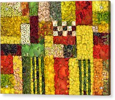 Vegetable Abstract Acrylic Print