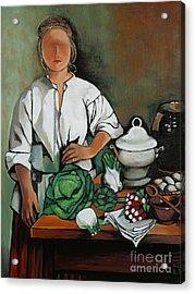 Vegetable Lady Wall Art Acrylic Print