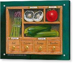 Vegetable Shelf Acrylic Print