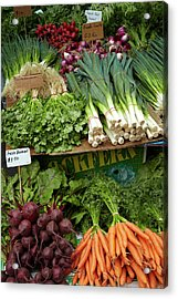 Vegetable Stall, Saturday Market Acrylic Print by David Wall