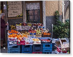 Vegetable Stand Italy Acrylic Print by Patricia Hofmeester