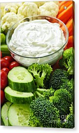 Vegetables And Dip Acrylic Print