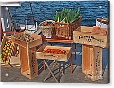 Acrylic Print featuring the photograph Vegetables At Floating Farmer's Market by Valerie Garner