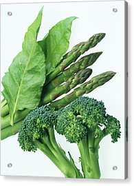 Vegetables Acrylic Print by Sheila Terry/science Photo Library