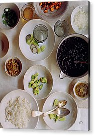 Vegetarian Dishes Acrylic Print by Romulo Yanes
