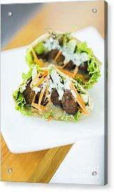Vegetarian Falafel In Pita Bread Sandwich Acrylic Print
