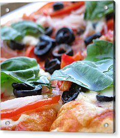 Vegetarian Pizza Acrylic Print by Keith May