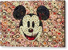 Veggie Mickey Mouse Acrylic Print by Paulette B Wright