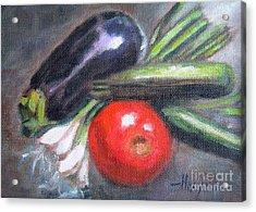 Veggies Acrylic Print by Addie Hocynec