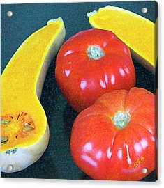 Veggies And Colors Acrylic Print by Ben and Raisa Gertsberg