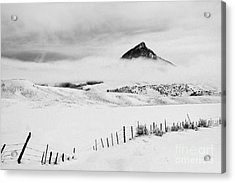 Acrylic Print featuring the photograph Veiled Winter Peak by Kristal Kraft