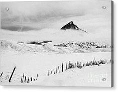 Veiled Winter Peak Acrylic Print