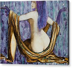 Veils To Clothe Venus With Acrylic Print by Brenda Clews