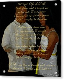Vein Of Love Poem Acrylic Print