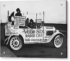 Velie Six Radio Car Acrylic Print