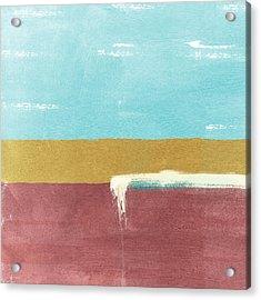 Velvet Horizon- Abstract Landscape Acrylic Print