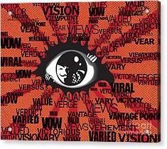 Vendetta Typography Acrylic Print