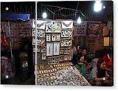 Vendors - Night Street Market - Chiang Mai Thailand - 011320 Acrylic Print by DC Photographer