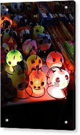 Vendors - Night Street Market - Chiang Mai Thailand - 011336 Acrylic Print by DC Photographer